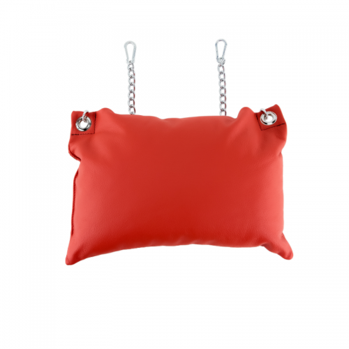 MR SLING Leather Pillow Red